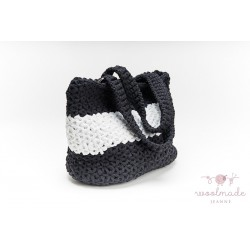 Ladies shopper bag black-white