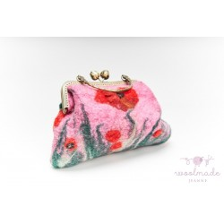 Ladies felt bag with floral...
